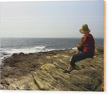 Looking Out To Sea Wood Print by Frank Winters