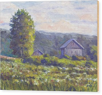 Looking South Wood Print by Michael Camp