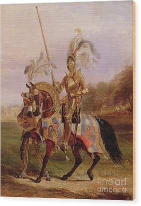 Lord Of The Tournament Wood Print by Edward Henry Corbould