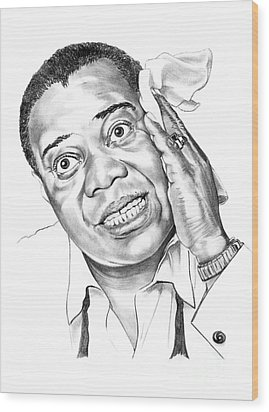 Louis Satchmo Armstrong Wood Print by Murphy Elliott
