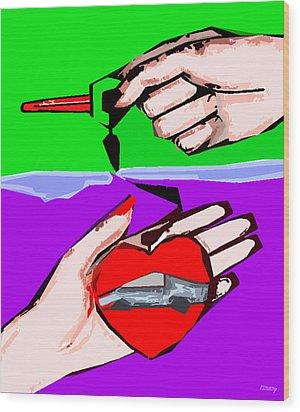 Love Affair Wood Print by Patrick J Murphy