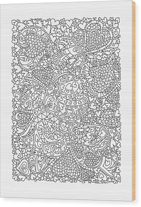 Love And Chrysanthemum Filled Hearts Vertical Wood Print by Tamara Kulish