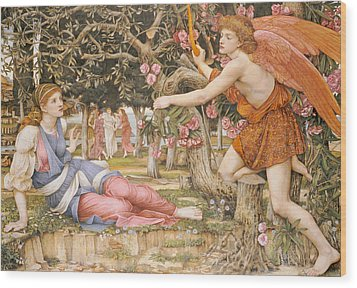 Love And The Maiden Wood Print by JRS Stanhope
