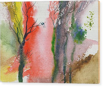 Love Birds 2 Wood Print by Anil Nene