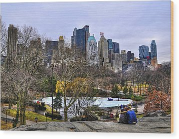 Love In Central Park Too Wood Print by Randy Aveille