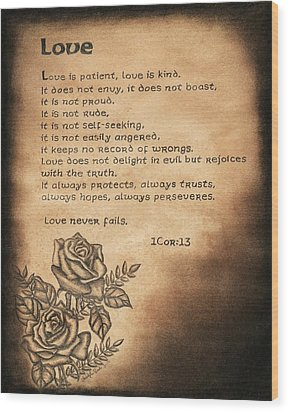 Love Is... Wood Print by Christopher Brooks