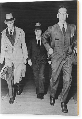 Lucky Luciano 1896-1962, Being Escorted Wood Print by Everett