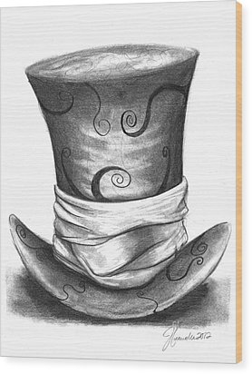 Mad Hat Wood Print by J Ferwerda