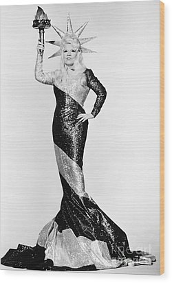 Mae West (1892-1980) Wood Print by Granger