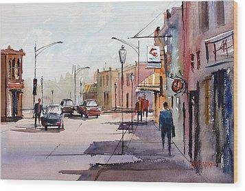Main Street - Wautoma Wood Print by Ryan Radke