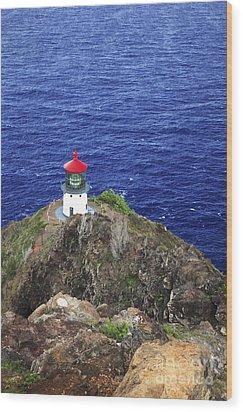 Makapuu Lighthouse II Wood Print by Brandon Tabiolo - Printscapes