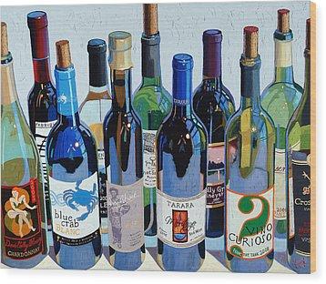 Make Mine Virginia Wine Number Three Wood Print by Christopher Mize