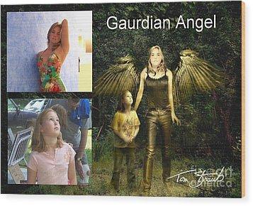 making Guardian Angel Wood Print by Tom Straub