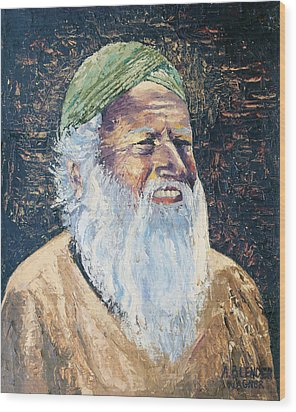 Man In The Green Turban Wood Print by Arline Wagner