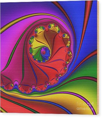 Mandala 156 Wood Print by Rolf Bertram