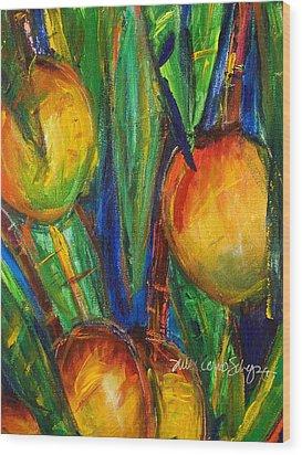 Mango Tree Wood Print by Julie Kerns Schaper - Printscapes