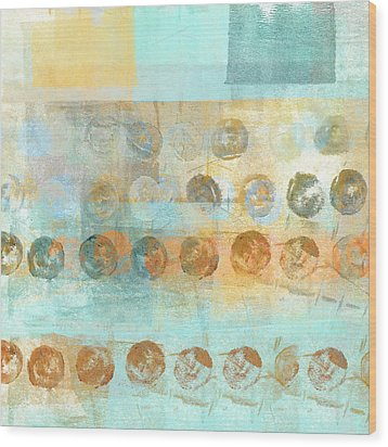 Marbles Found Number 3 Wood Print by Carol Leigh