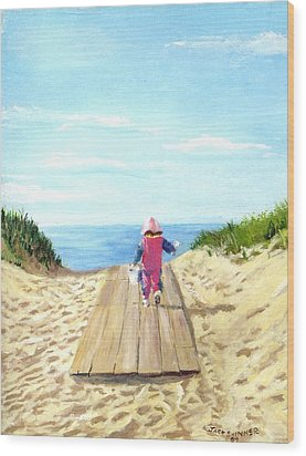 March To The Beach Wood Print by Jack Skinner
