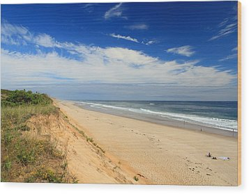 Marconi Beach Cape Cod National Seashore Wood Print by John Burk
