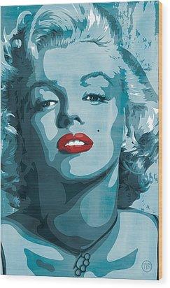 Marilyn Monroe Wood Print by Jeff Nichol