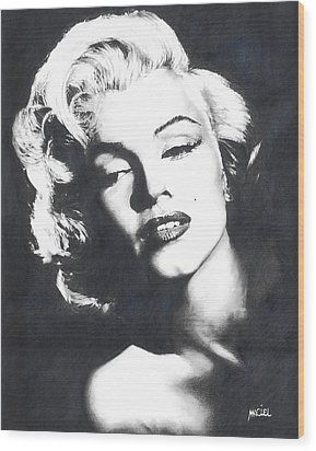 Marilyn Monroe Wood Print by Maciel Cantelmo