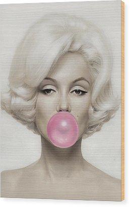 Marilyn Monroe Wood Print by Vitor Costa
