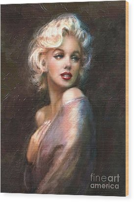 Marilyn Romantic Ww 1 Wood Print by Theo Danella