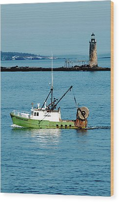 Maritime Wood Print by Greg Fortier