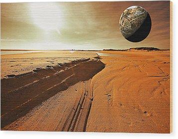 Mars Wood Print by Dapixara Art