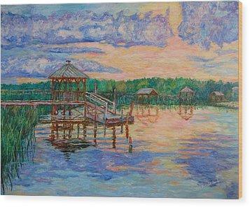 Marsh View At Pawleys Island Wood Print by Kendall Kessler