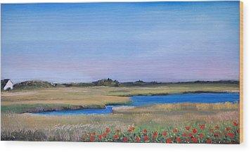 Marshside Wood Print by Cindy Plutnicki