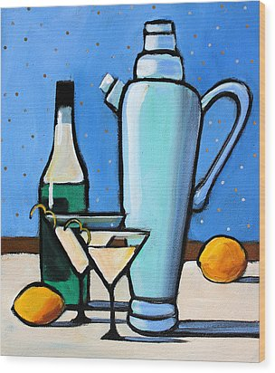 Martini Night Wood Print by Toni Grote