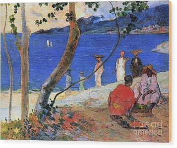 Martinique Island Wood Print by Paul Gauguin