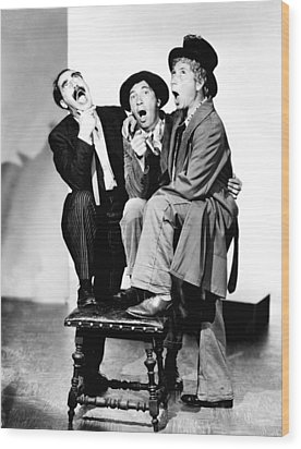 Marx Brothers, The Groucho, Chico Wood Print by Everett