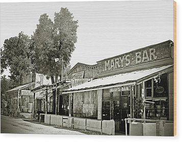 Mary's Bar Cerrillo Nm Wood Print by Christine Till