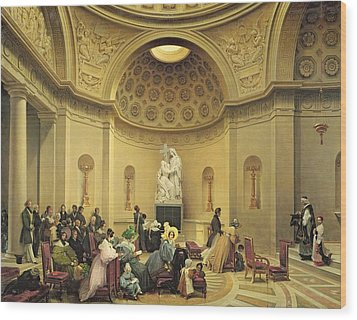 Mass In The Expiatory Chapel Wood Print by Lancelot Theodore Turpin de Crisse