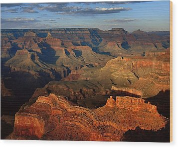 Mather Point - Grand Canyon Wood Print by Stephen  Vecchiotti