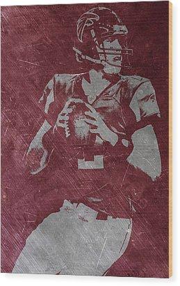 Matt Ryan Atlanta Falcons Wood Print by Joe Hamilton