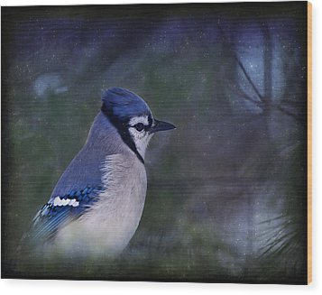 Me Minus You - Blue Wood Print by Evelina Kremsdorf