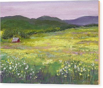 Meadow Of Flowers Wood Print by David Patterson