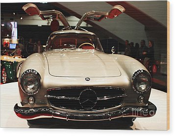 Mercedes 300sl Gullwing . Front View Wood Print by Wingsdomain Art and Photography