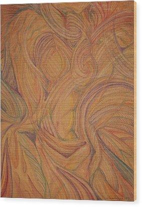 Meta Wood Print by Caroline Czelatko