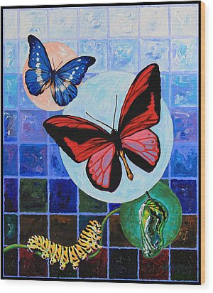 Metamorphosis Of The New Life Wood Print by John Lautermilch