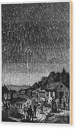 Meteor Shower, 1833 Wood Print by Granger