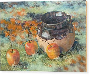 Mexican Apples Wood Print by DEVARAJ DanielFranco