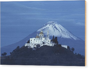 Mexico, Cholula, Catholic Church Wood Print by Keenpress
