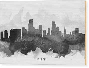 Miami Cityscape 11 Wood Print by Aged Pixel