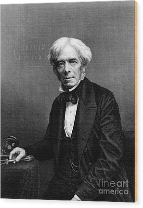 Michael Faraday, English Physicist Wood Print by Photo Researchers