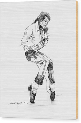 Michael Jackson - King Of Pop Wood Print by David Lloyd Glover