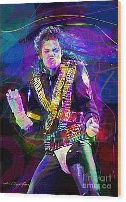 Michael Jackson '93 Moves Wood Print by David Lloyd Glover